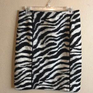 Ann Taylor Textured Zebra Skirt